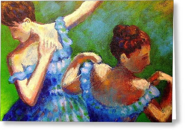 Homage To Degas Greeting Card by John  Nolan