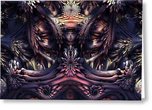 Homage To Giger Greeting Card by Lyle Hatch