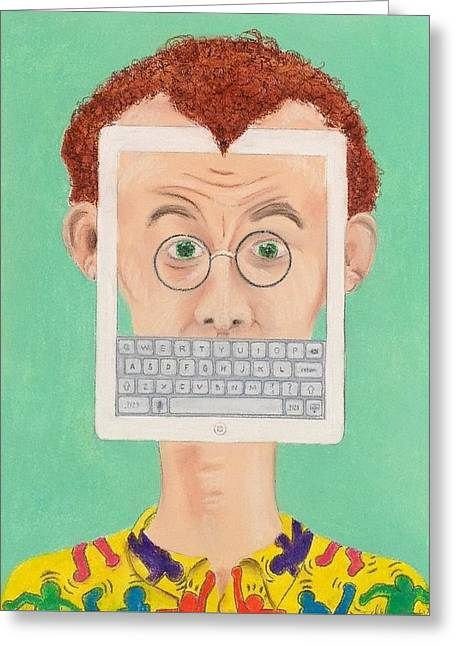 Homage To Keith Haring Greeting Card