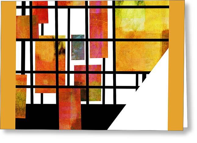 Homage To Mondrian Three Greeting Card by Ann Powell