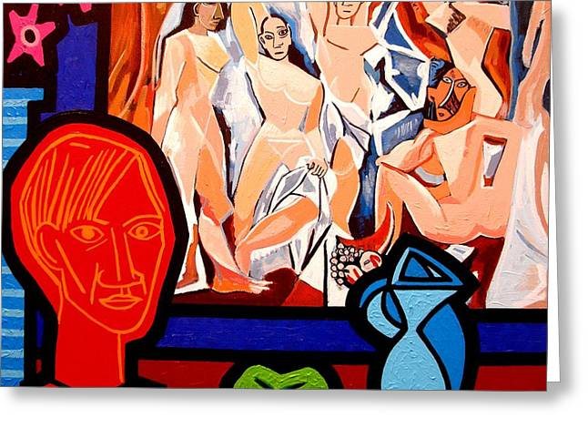 Homage To Picasso I Greeting Card