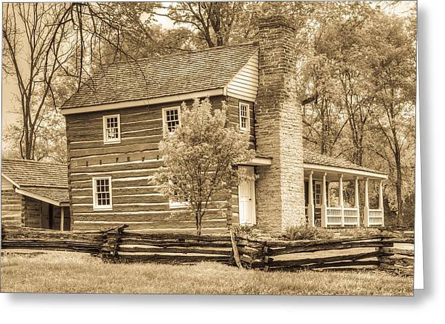 Home 1800s In Sepia Greeting Card