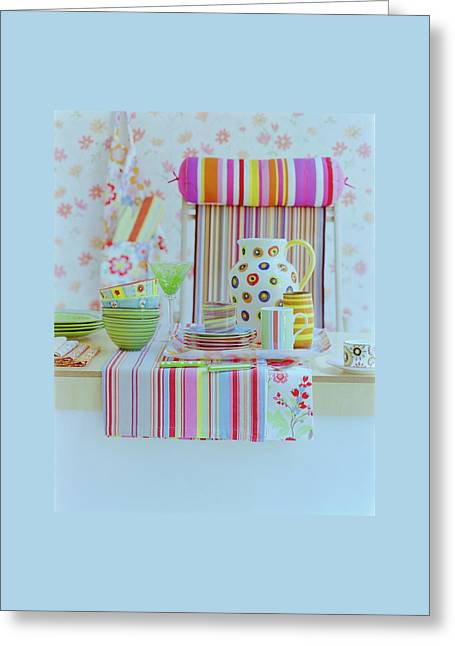 Home Accessories Greeting Card by Romulo Yanes