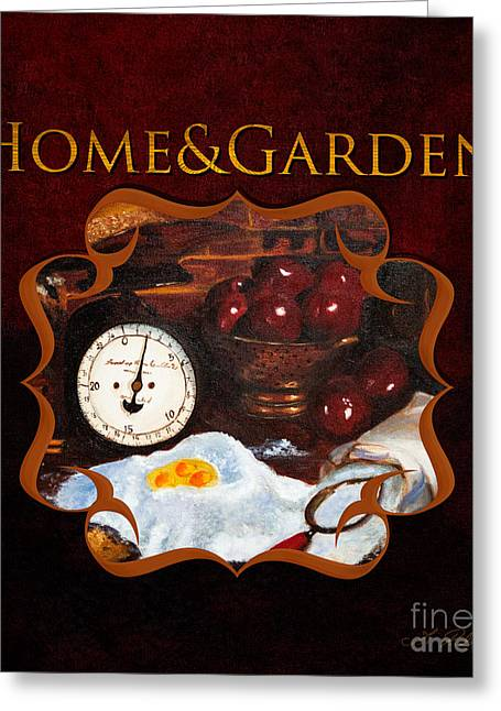 Home And Garden Gallery Greeting Card by Iris Richardson