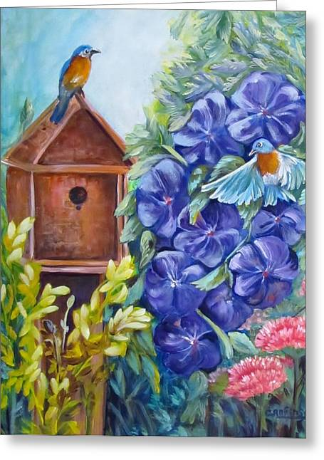 Home At Last Greeting Card by Carol Allen Anfinsen