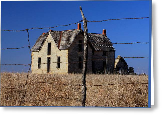 Home Behind The Barbed Wire Greeting Card