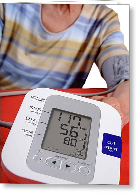 Home Blood Pressure Testing Greeting Card by Aj Photo