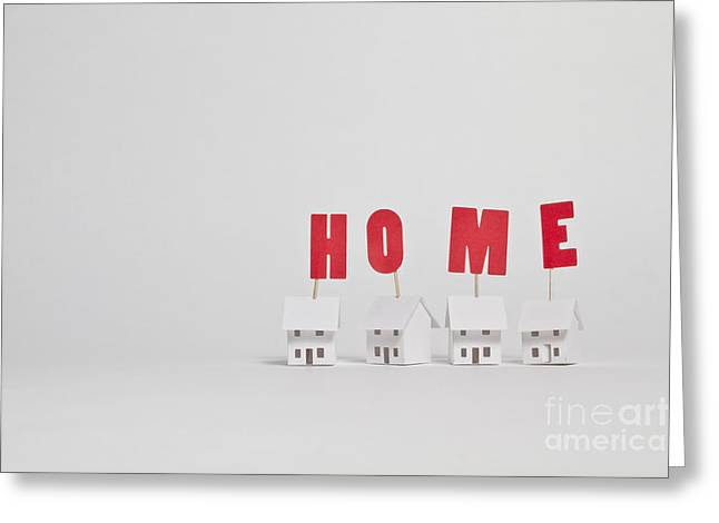 Home Greeting Card by Catherine MacBride