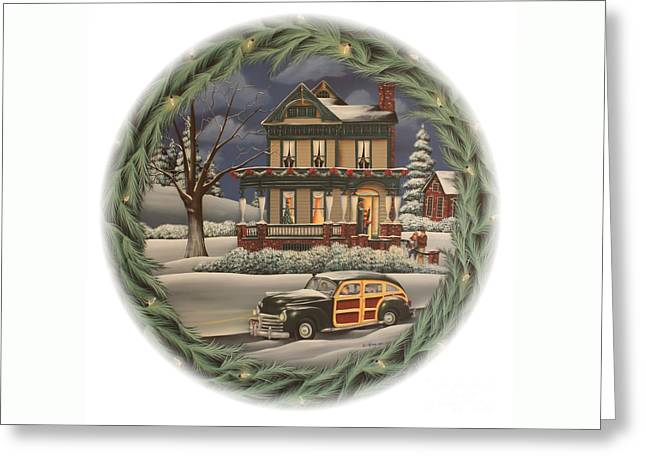 Home For The Holidays Greeting Card by Catherine Holman