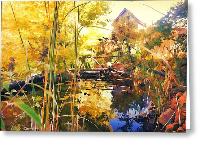 Home Garden And Pond Greeting Card by Douglas MooreZart