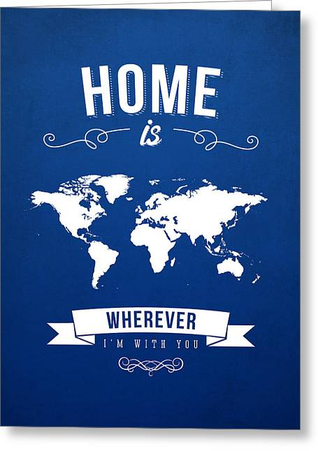 Home - Ice Blue Greeting Card by Aged Pixel