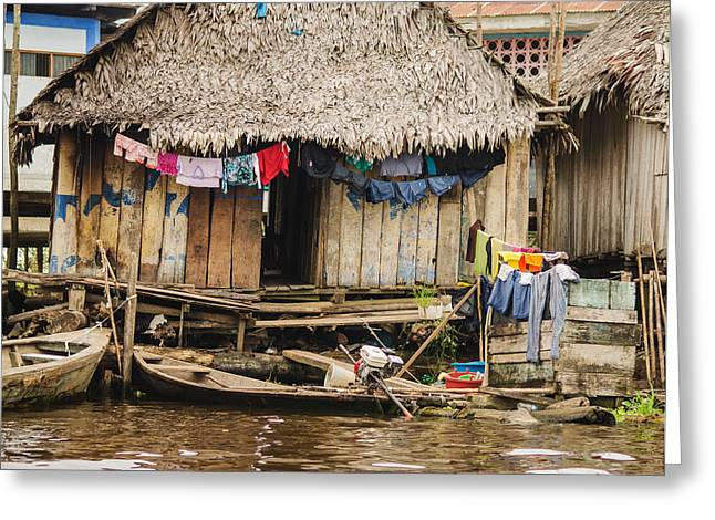 Home In Shanty Town Greeting Card