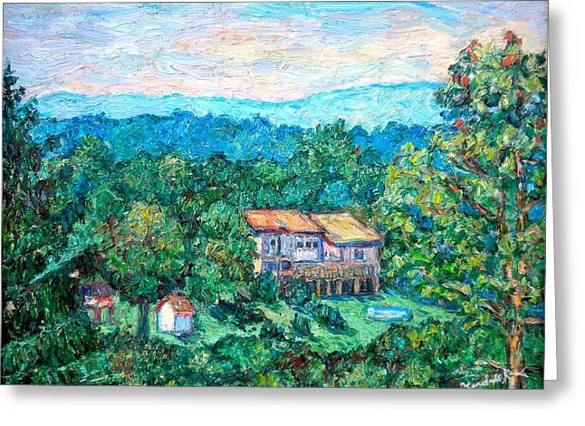 Home In The Hills Greeting Card by Kendall Kessler
