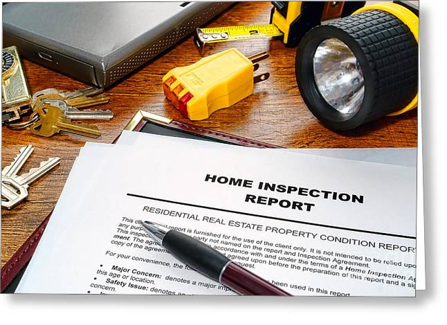 Home Inspection Report Greeting Card