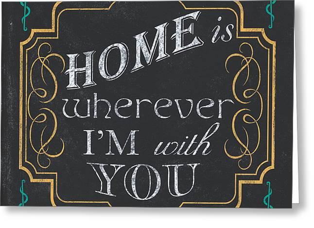 Home Is... Greeting Card by Debbie DeWitt