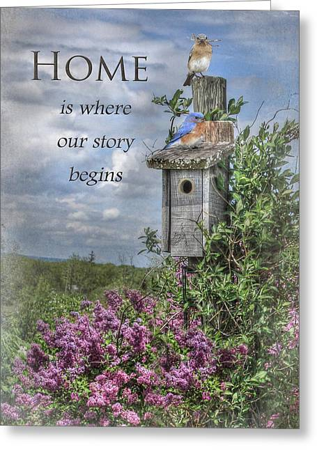 Home Is Where Greeting Card by Lori Deiter