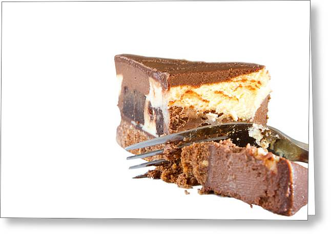 Home Made Chocolate Fudge Cake Greeting Card by Fizzy Image