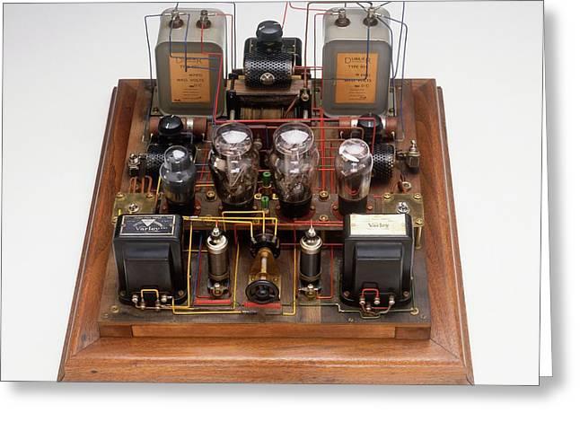 Home-made Radio Amplifier Greeting Card