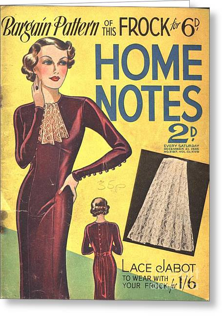Home Notes 1940s Uk Women At War Womens Greeting Card by The Advertising Archives