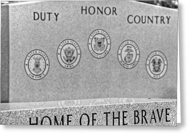 Home Of The Brave Greeting Card by Heather Allen