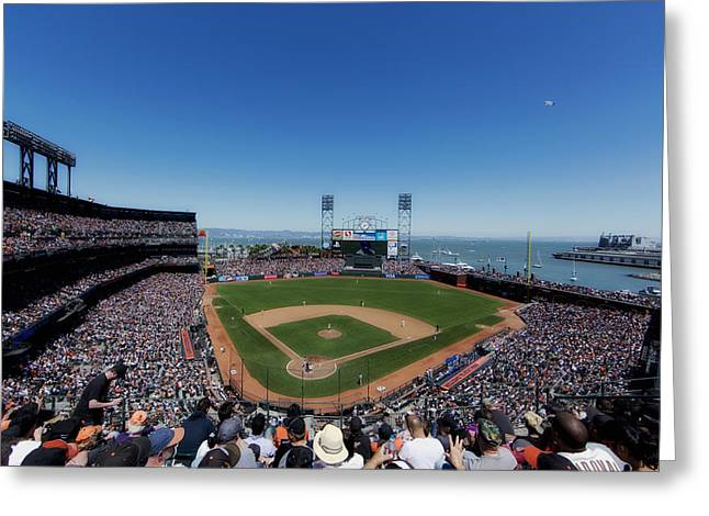 Home Of The San Francisco Giants Greeting Card by Mountain Dreams