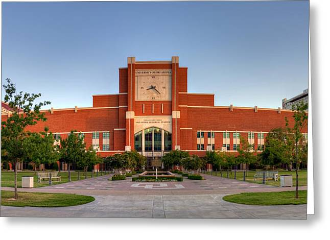 Home Of The Sooners Panorama Greeting Card by Ricky Barnard
