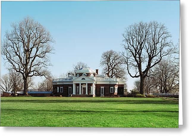 Home Of Thomas Jefferson, Monticello Greeting Card by Panoramic Images