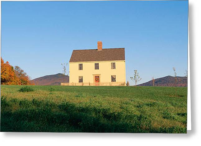Vermont Photographs Greeting Cards - Home On Hill, Lyndonville, Vermont Greeting Card by Panoramic Images