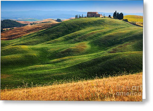 Home On The Hill Greeting Card by Inge Johnsson