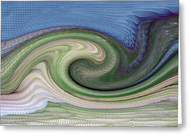 Home Planet - Gravity Well Greeting Card by Bill Owen