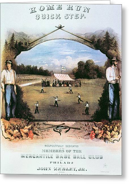 Home Run Quick Step, 1861 Greeting Card by Granger