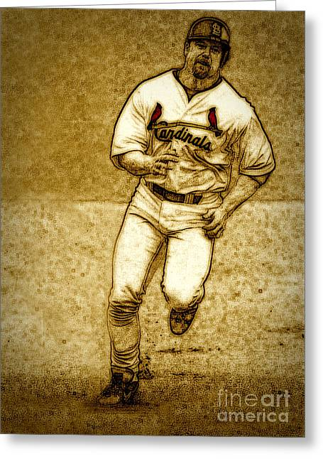 Home Run Greeting Card by Terry Wallace