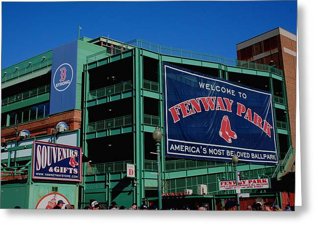 Home Sweet Fenway Greeting Card by Stephen Melcher