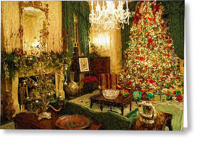 Home Sweet Home At Christmas Greeting Card