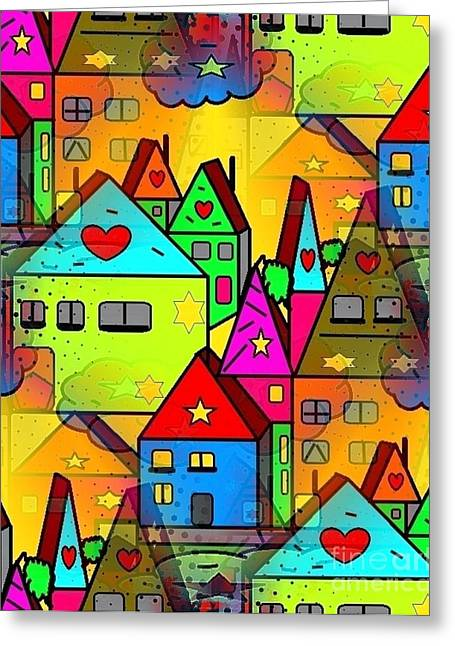 Home Sweet Home By Nico Bielow Greeting Card by Nico Bielow