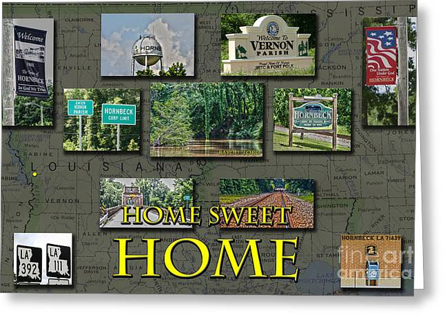 Home Sweet Home Greeting Card by D Wallace