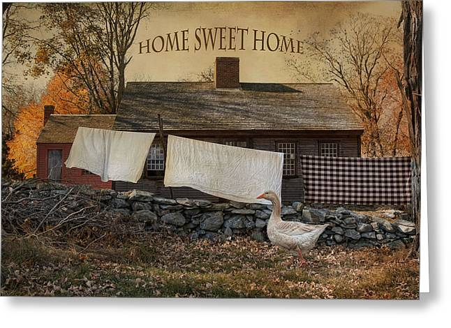 Home Sweet Home Greeting Card by Robin-Lee Vieira