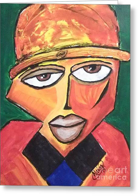 Homeboy Greeting Card by Anthony Lewis