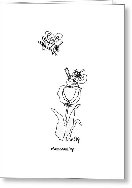 Homecoming Greeting Card by William Steig