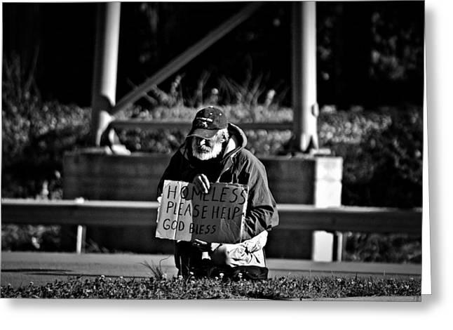 Homeless Greeting Card by Greg  Betsworth