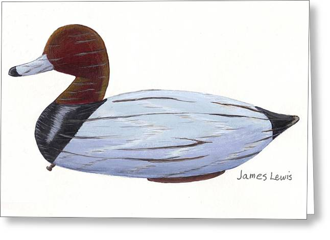 Homerfulcher Red Head Decoy Greeting Card by James Lewis