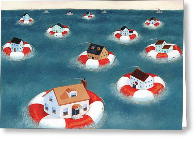 Homes Greeting Card by Steve Dininno