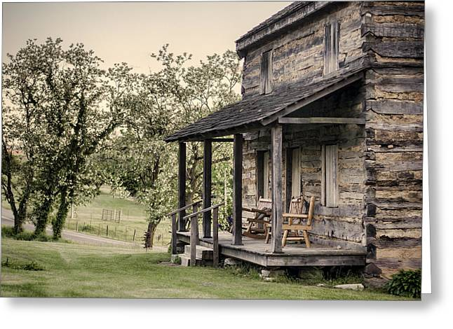 Homestead At Dusk Greeting Card by Heather Applegate