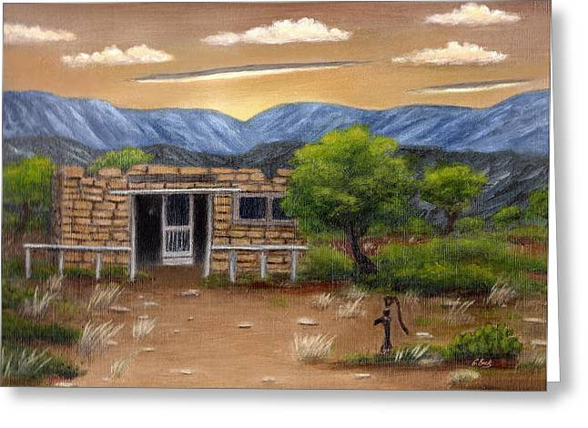 Homestead Greeting Card by Gordon Beck