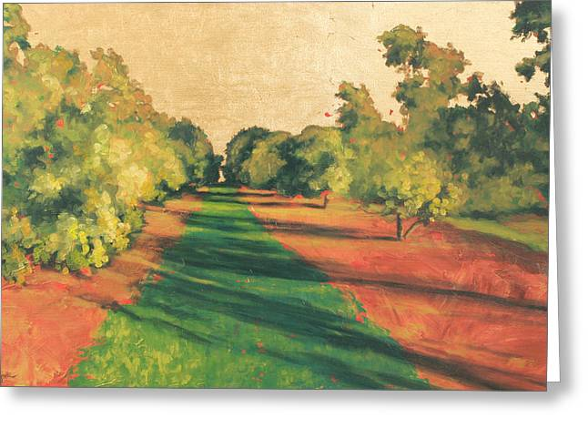 Homestead Grove 7 Greeting Card by Carlynne Hershberger