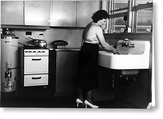 Homestead Kitchen, 1936 Greeting Card