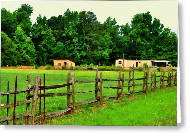Homestead Greeting Card by Paulette B Wright