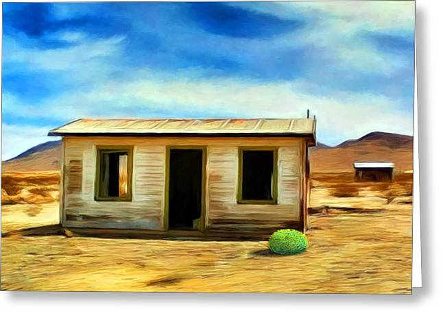 Homestead Greeting Card by Snake Jagger