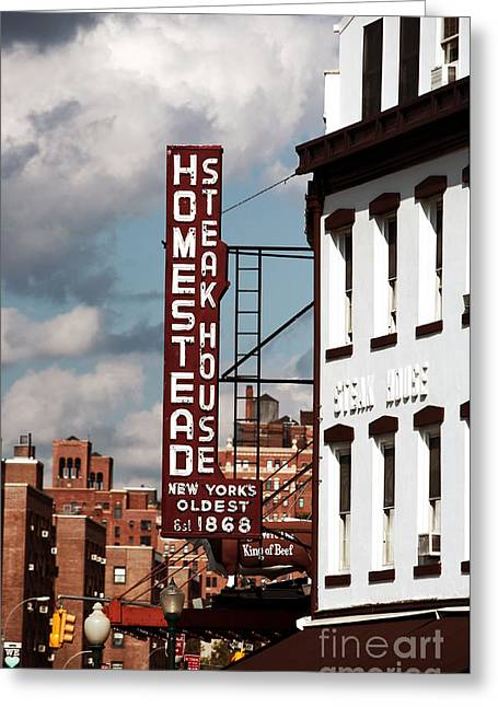 Homestead Steakhouse Greeting Card by John Rizzuto