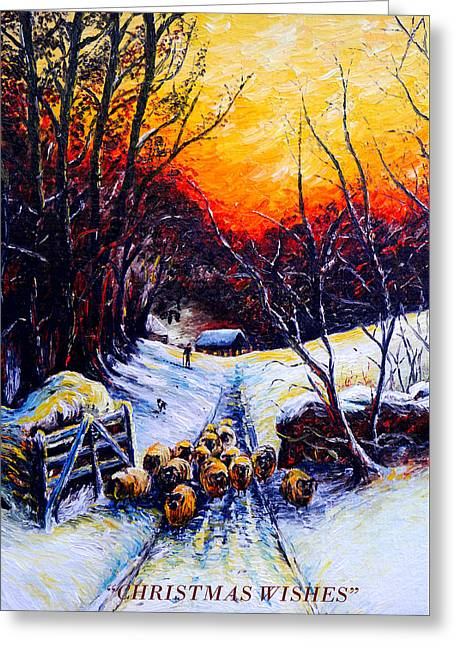 Homeward Bound Christmas Card Greeting Card by Andrew Read